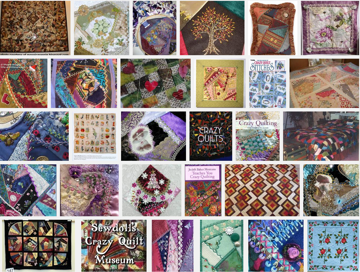 history of crazy quilting
